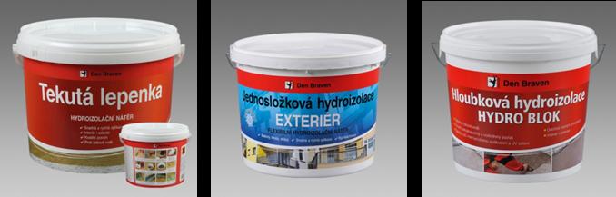 Hydroizolace a separace - hydroizolační nátěry