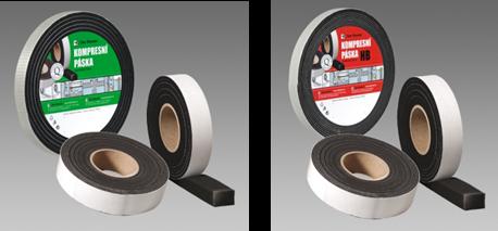 Těsnící a fixační pásky - komprimační páska