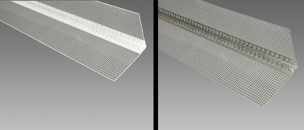 Příslušenství pro zateplení fasád - rohový profil s tkaninou