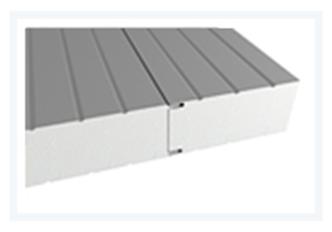 Sendvičové panely - Sendvičový panel s polystyrénovým jádrem - stěnový