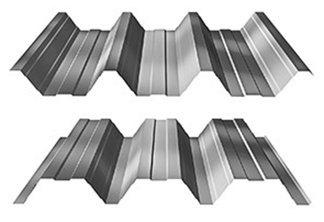 Trapézové plechy - trapézový plech - T 90