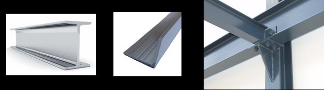 Hutní materiál - ocelové profily - Nosníky I, IPE, HEA, HEB, L, T, U, UE, UPE