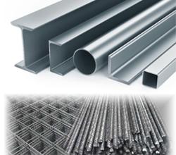 Sortiment - ocelové profily a betonářská výztuž